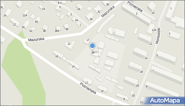 Kętrzyn, Mazurska, 19, mapa Kętrzyn