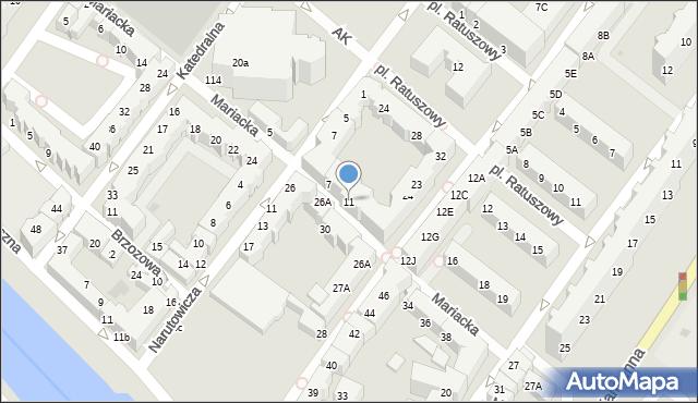 Kołobrzeg, Mariacka, 11, mapa Kołobrzegu