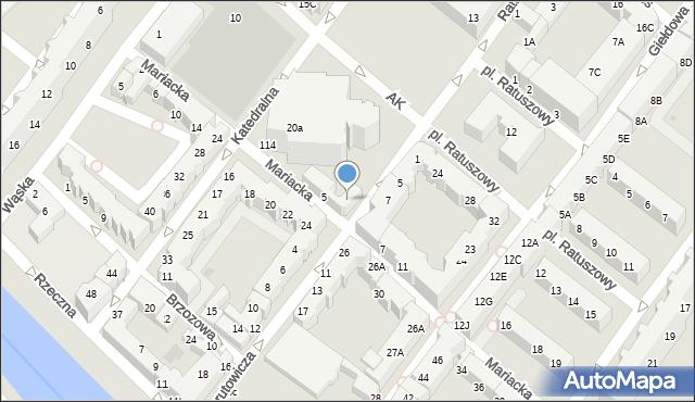 Kołobrzeg, Mariacka, 22a, mapa Kołobrzegu