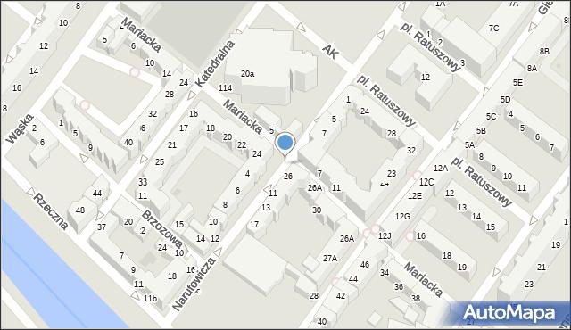 Kołobrzeg, Mariacka, 24a, mapa Kołobrzegu