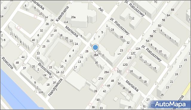Kołobrzeg, Mariacka, 26A, mapa Kołobrzegu