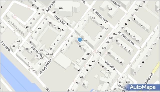 Kołobrzeg, Mariacka, 30, mapa Kołobrzegu