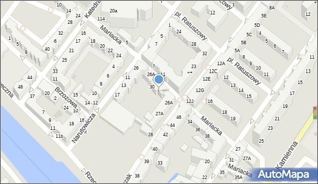 Kołobrzeg, Mariacka, 32, mapa Kołobrzegu