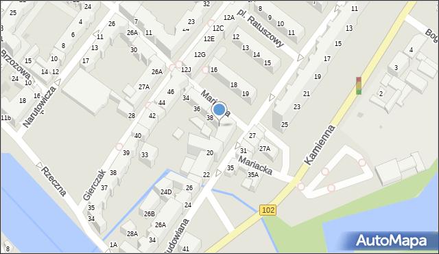 Kołobrzeg, Mariacka, 40, mapa Kołobrzegu