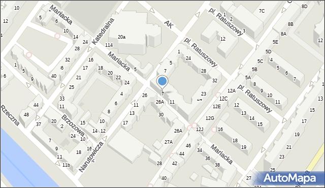 Kołobrzeg, Mariacka, 7, mapa Kołobrzegu