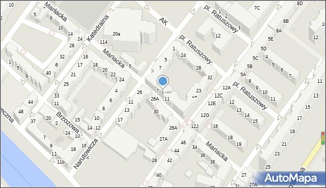 Kołobrzeg, Mariacka, 9, mapa Kołobrzegu