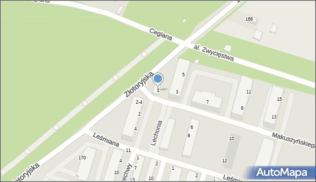 Legnica, Makuszyńskiego Kornela, 1, mapa Legnicy