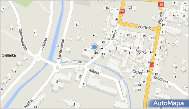 Limanowa, Marka Józefa, 18, mapa Limanowa