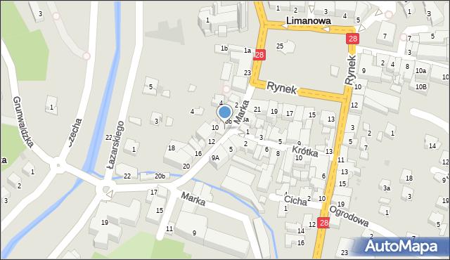 Limanowa, Marka Józefa, 8, mapa Limanowa