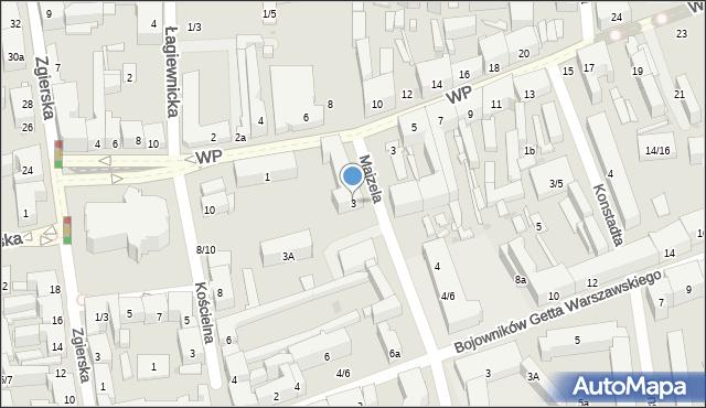 Łódź, Majzela Eliasza Chaima, 3, mapa Łodzi