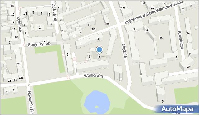 Łódź, Majzela Eliasza Chaima, 7, mapa Łodzi