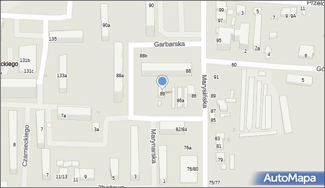 Łódź, Marynarska, 89, mapa Łodzi