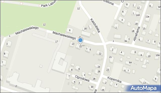 Luzino, Machalewskiego, ks., 11, mapa Luzino