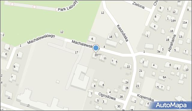 Luzino, Machalewskiego, ks., 13, mapa Luzino