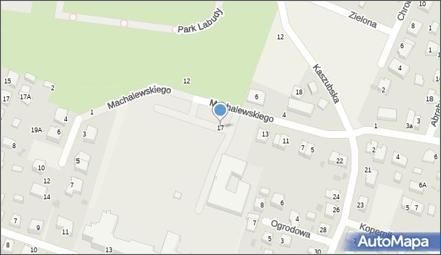 Luzino, Machalewskiego, ks., 17, mapa Luzino