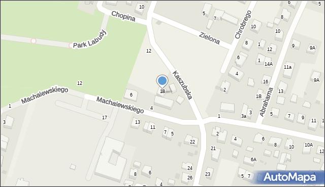 Luzino, Machalewskiego, ks., 2, mapa Luzino