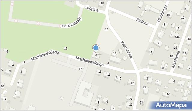 Luzino, Machalewskiego, ks., 6, mapa Luzino