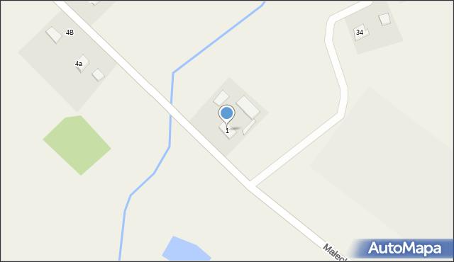 Maleczewo, Maleczewo, 1, mapa Maleczewo