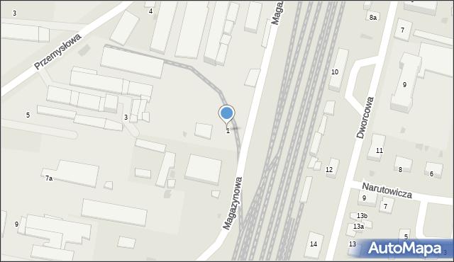 Mogilno, Magazynowa, 1, mapa Mogilno