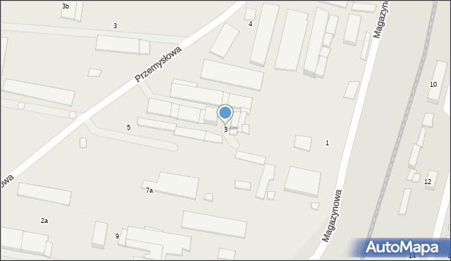 Mogilno, Magazynowa, 3, mapa Mogilno
