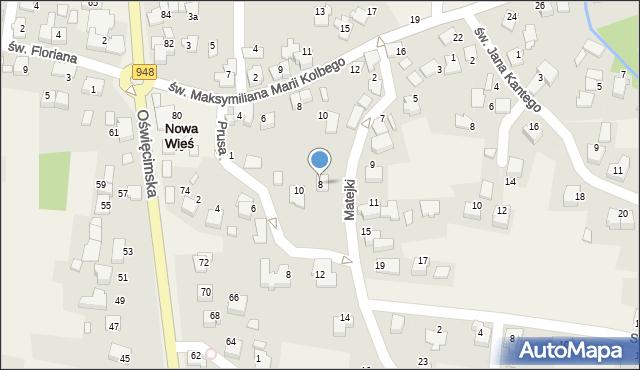 Nowa Wieś, Matejki Jana, 8, mapa Nowa Wieś