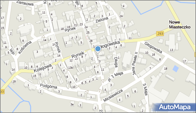 Nowe Miasteczko, Majowa, 1, mapa Nowe Miasteczko