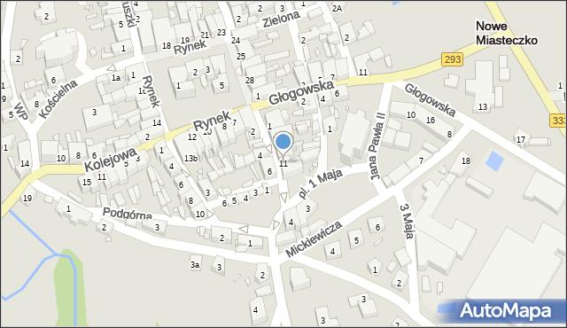 Nowe Miasteczko, Majowa, 11, mapa Nowe Miasteczko