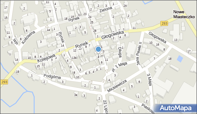 Nowe Miasteczko, Majowa, 4, mapa Nowe Miasteczko