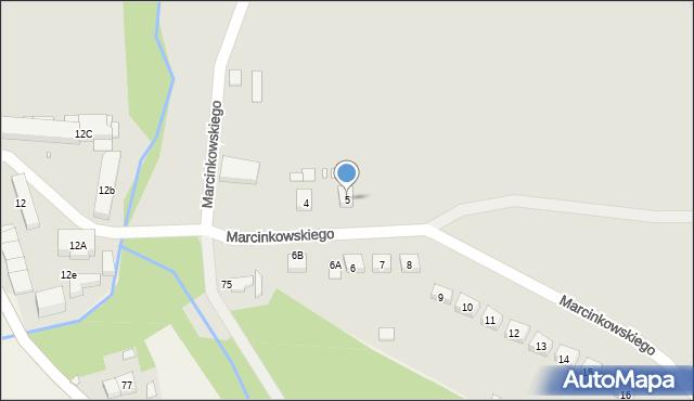 Nowe Miasteczko, Marcinkowskiego, 5, mapa Nowe Miasteczko