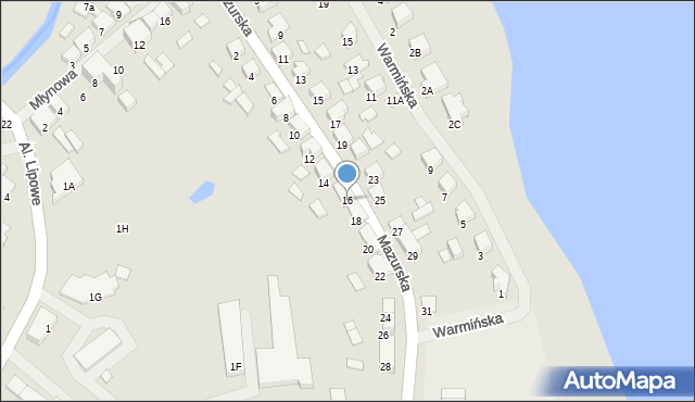 Olecko, Mazurska, 16, mapa Olecko