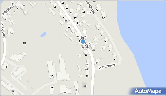 Olecko, Mazurska, 20, mapa Olecko