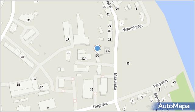 Olecko, Mazurska, 30, mapa Olecko
