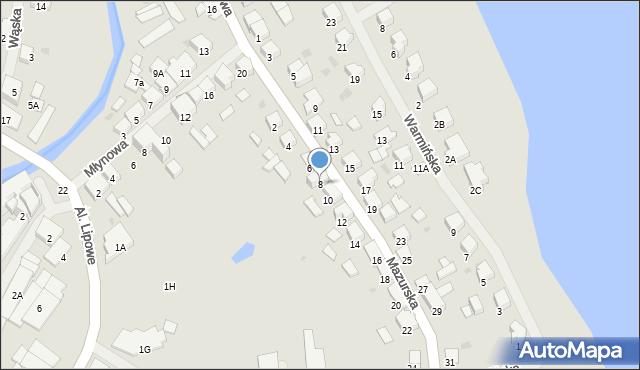 Olecko, Mazurska, 8, mapa Olecko