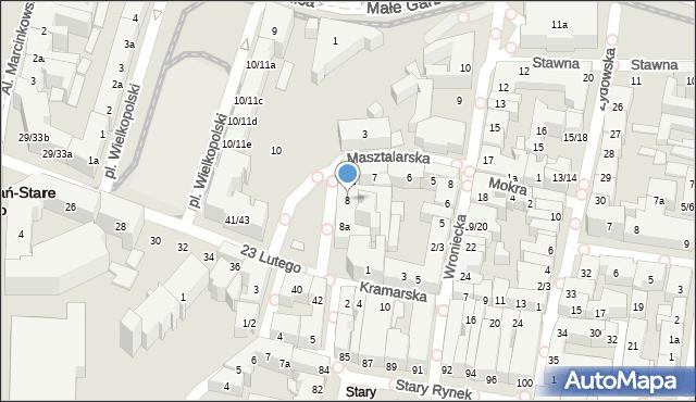 Poznań, Masztalarska, 8, mapa Poznania
