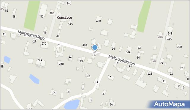 Radom, Małcużyńskiego Witolda, 17, mapa Radomia