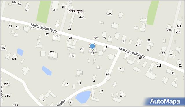Radom, Małcużyńskiego Witolda, 19, mapa Radomia