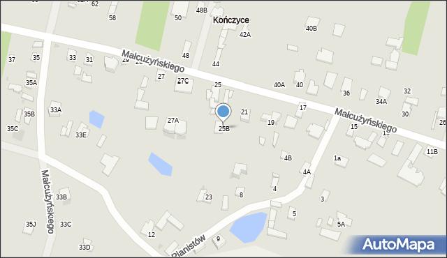 Radom, Małcużyńskiego Witolda, 25B, mapa Radomia