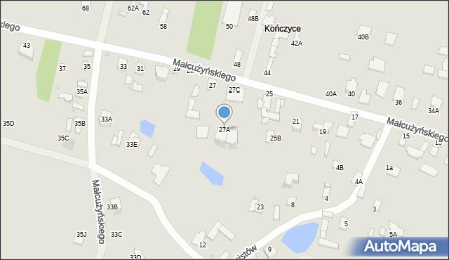 Radom, Małcużyńskiego Witolda, 27A, mapa Radomia
