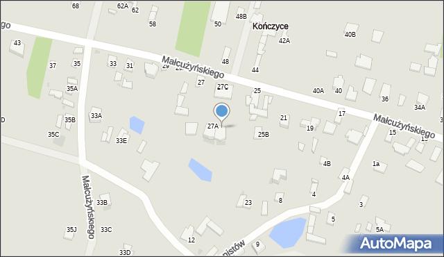 Radom, Małcużyńskiego Witolda, 27B, mapa Radomia
