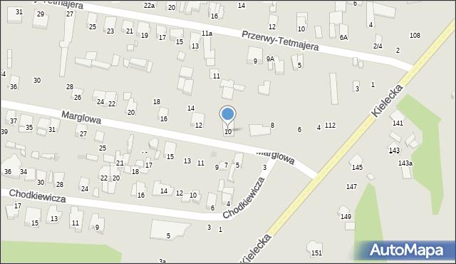 Radom, Marglowa, 10, mapa Radomia