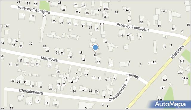 Radom, Marglowa, 14, mapa Radomia