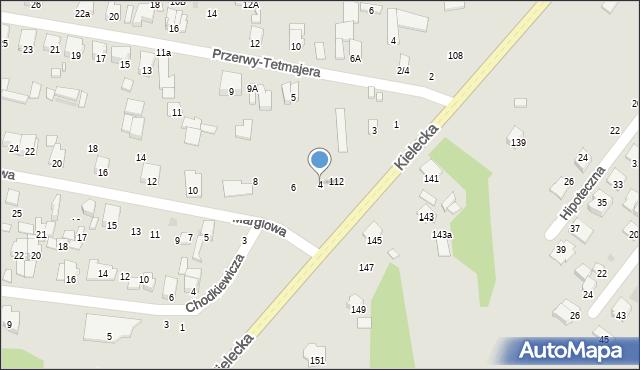 Radom, Marglowa, 4, mapa Radomia