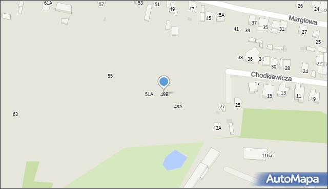 Radom, Marglowa, 49B, mapa Radomia