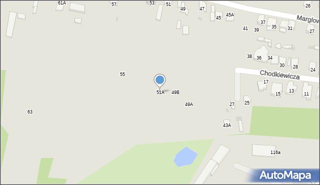 Radom, Marglowa, 51A, mapa Radomia