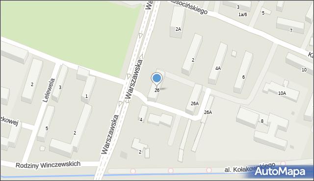 Radom, Malczewskiego Jacka, 26, mapa Radomia
