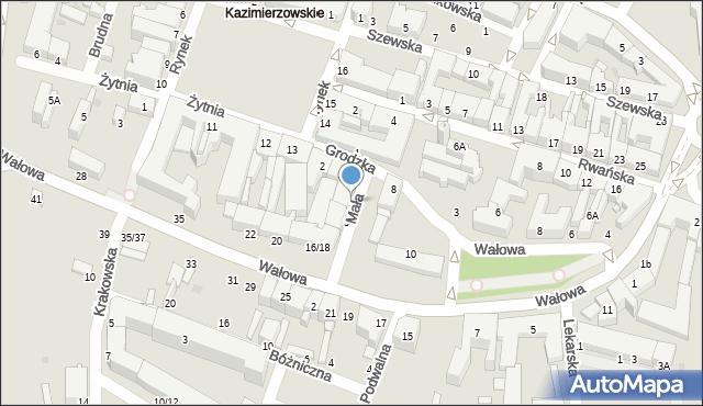 Radom, Mała, 1, mapa Radomia
