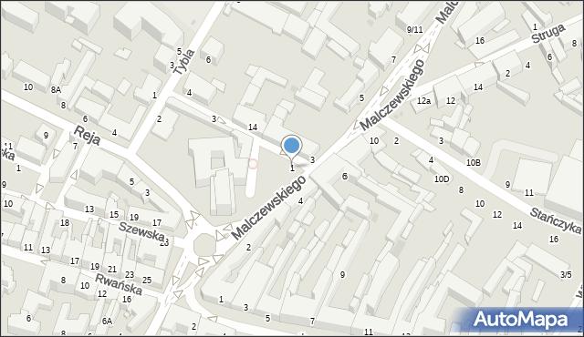 Radom, Malczewskiego Jacka, 1, mapa Radomia