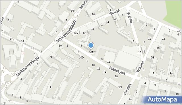 Radom, Malczewskiego Jacka, 10B, mapa Radomia