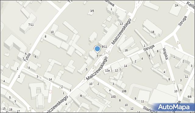 Radom, Malczewskiego Jacka, 7, mapa Radomia