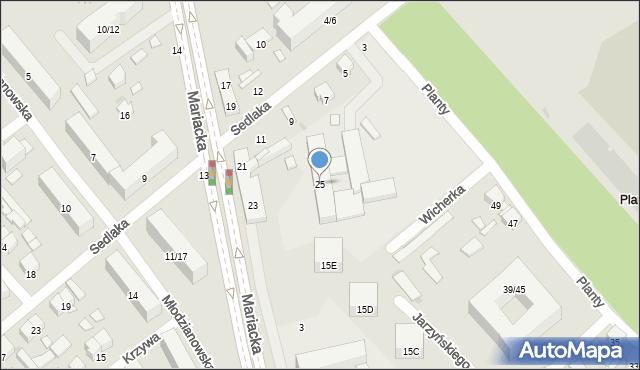 Radom, Mariacka, 25, mapa Radomia